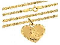 Zestawy łańcuszków z medalikami
